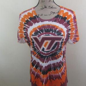 Creative Apparel Virginia Tech Tie Die Shirt XL